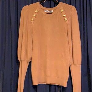Brand New ⭐️ Zara Gold Button Sweater.